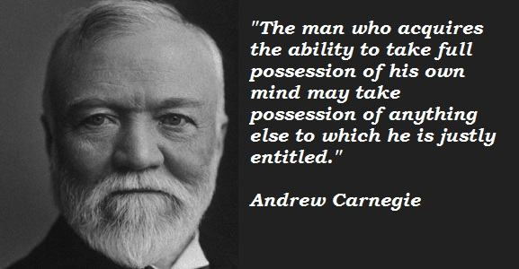 andrew carnegie and his advice on wealth The autobiography of andrew carnegie  author: andrew carnegie  uncle  lauder also lent his aid and advice, managing all the details for us, and on the   for pin-money, and the skill then acquired was now turned to account for the  benefit.