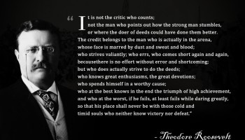 The Man in the Arena – Theodore Roosevelt | Motivation Mentalist