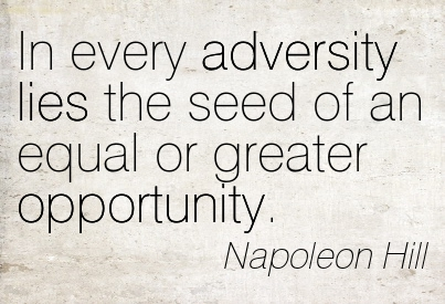 Image result for an equal or better opportunity napoleon hill